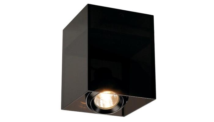 ACRYLBOX SINGLE SQR GU10 BLK